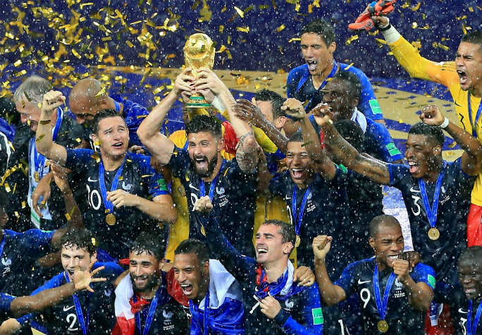 France celebrate their second World Cup triumph. Photo: Shutterstock