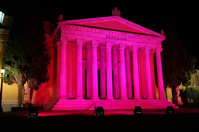 estee lauder - pink buildings - breast cancer