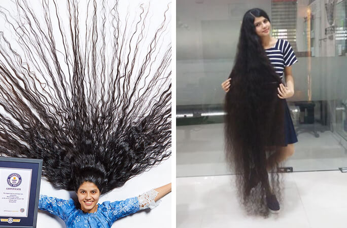 Meet-Nilanshi-Patel-who-has-the-longest-hair-on-a-teenager