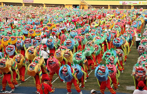 Largest lion dance display (single operator)